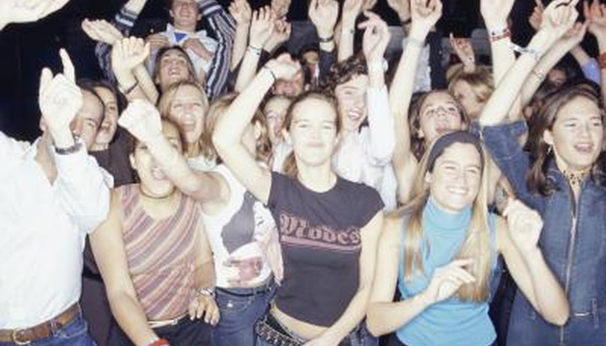 Crowd at a concert.