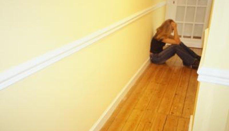 Laminate Floor in an Angled Hallway
