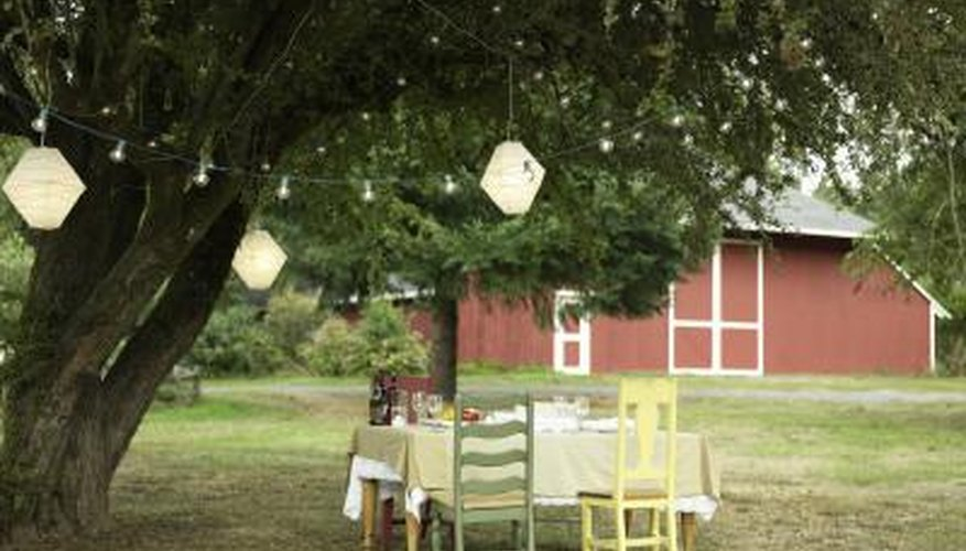 Add an overhang to a pole barn to create a sheltered area for entertaining.
