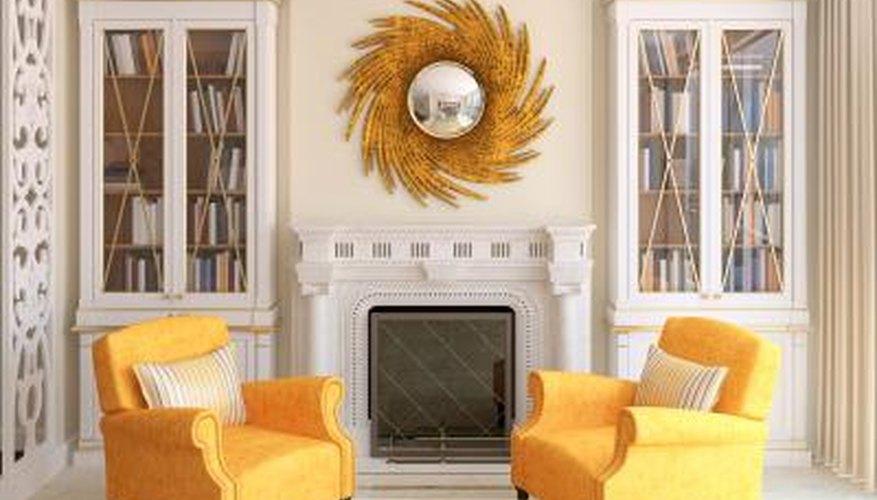 Elegant fireplace area