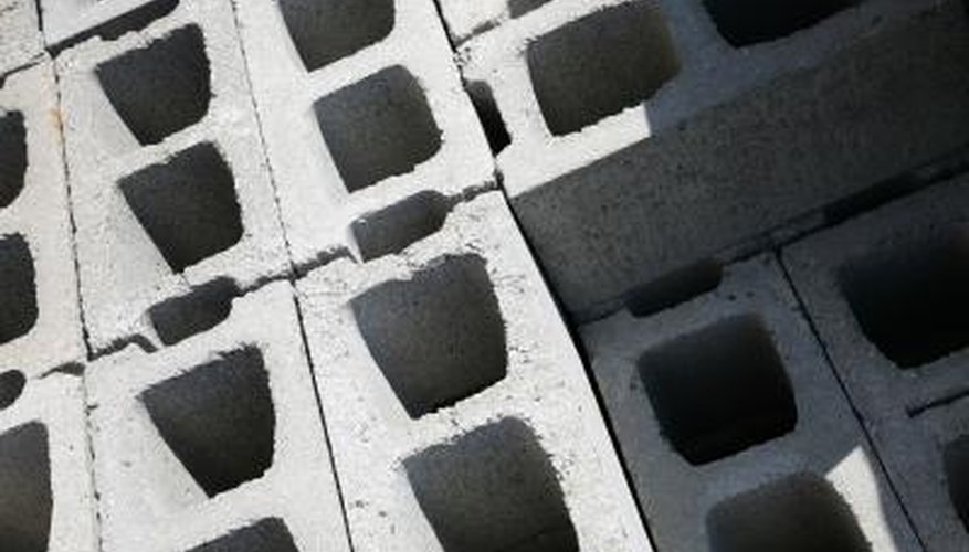 Some concrete blocks are formed with two hollow cavities.