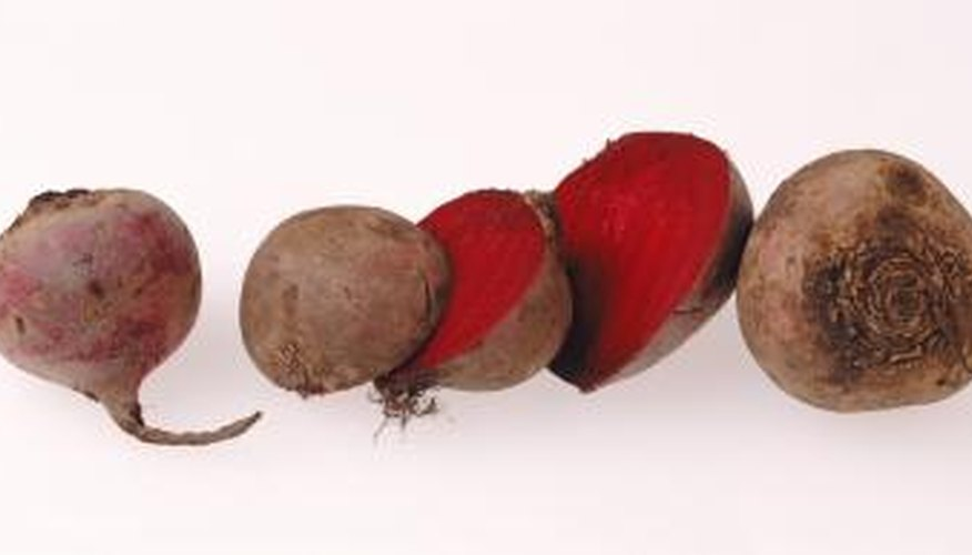 The bright red pigment of beets is notorious for staining.