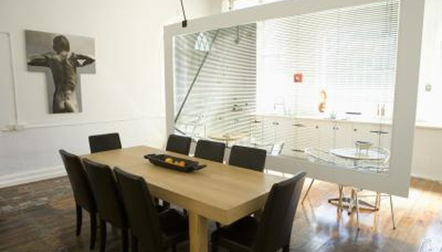 Plexiglass is durable enough to use as a room divider.