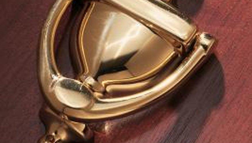 Restore an old brass door knocker with a simple paint job.