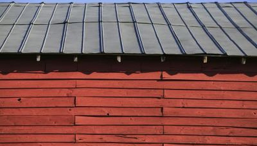 A metal roof on a pole barn is subject to condensation.