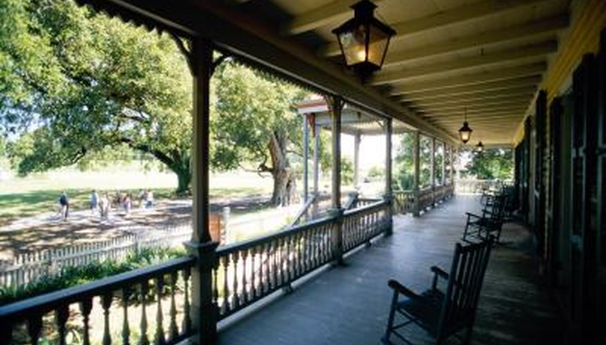 Porches add a homey touch to ranch-style homes.