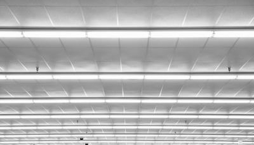 Fluorescent lights are often used to illuminate large spaces.