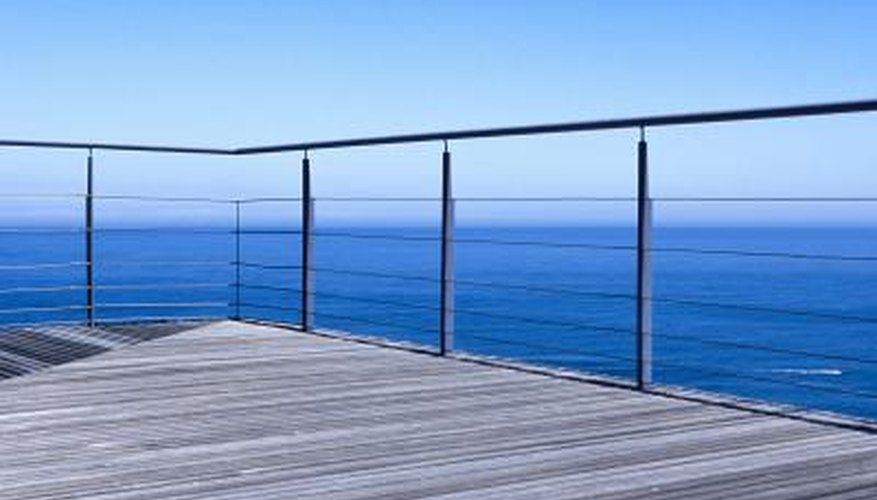 Wood is a good option for flooring on a balcony.