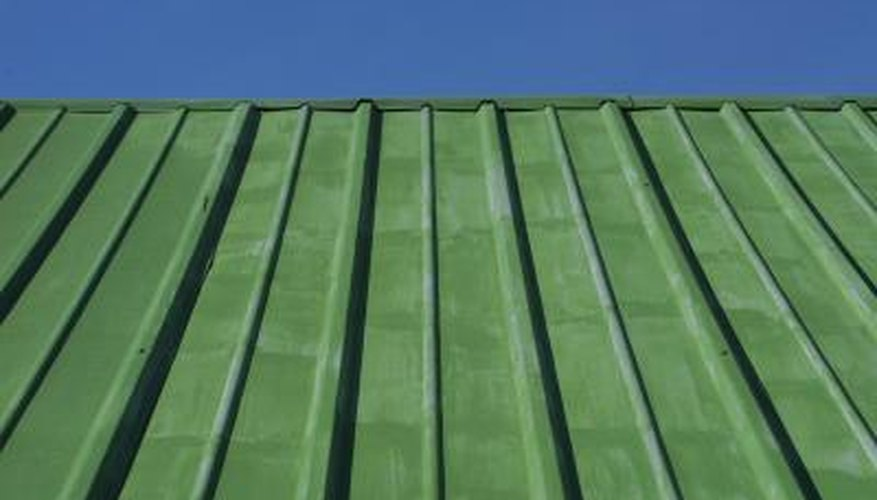 Sheet metal comes in a variety of colors and styles.