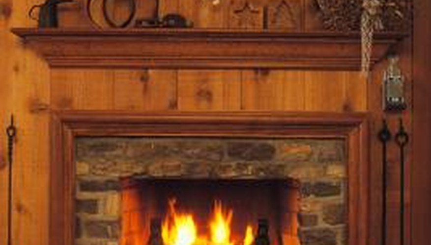 Choose mantel decorations that extend the room's decor theme.