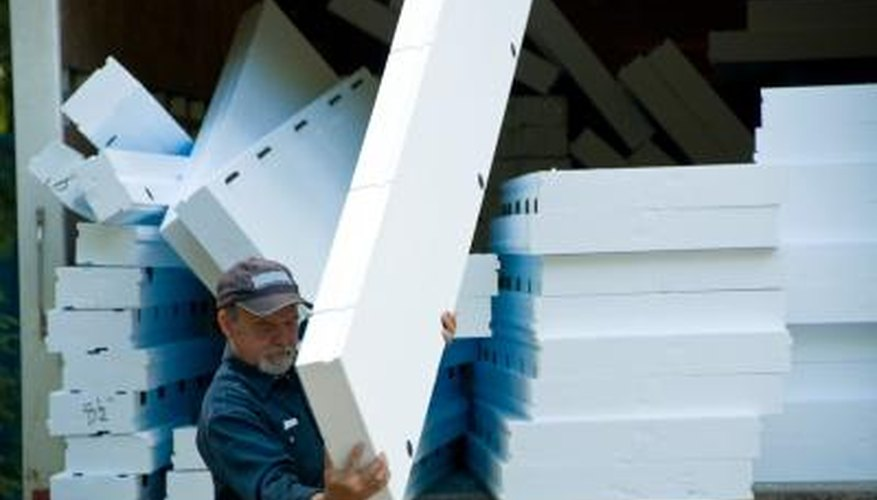 Installing foam insulation can be a one-person job.