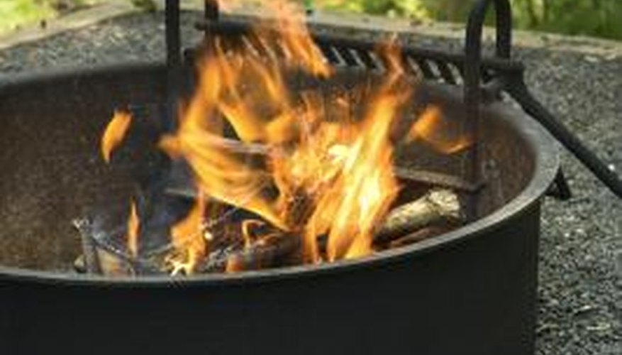 Fire pits can be simple, plain and portable.