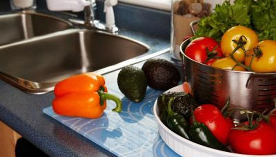 Garbage disposals are used to dispose of food waste, but much of the waste can be composted.