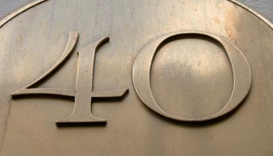 Choose a house number plaque that enhances the look of your home.