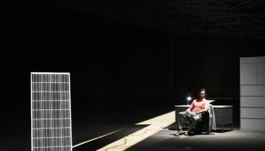 Solar power kits provide off-the-grid electric power.