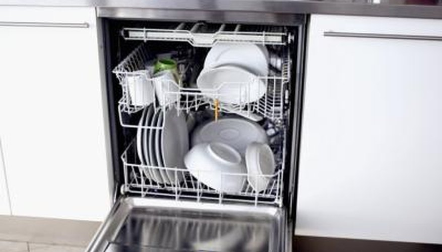 A stuffed dishwasher can block water flow to the upper rack.