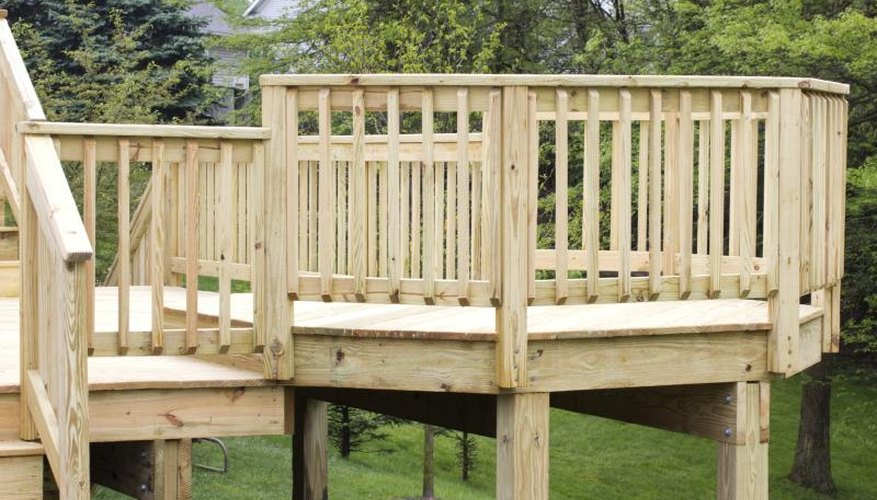 The rim joists of the deck.