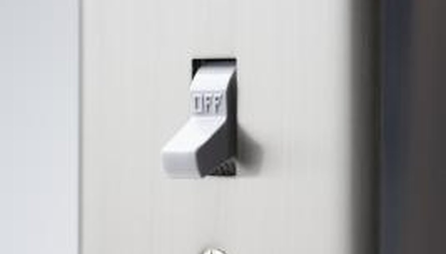 Wiring a five-way light switch allows for four different locations to control a set of lights.