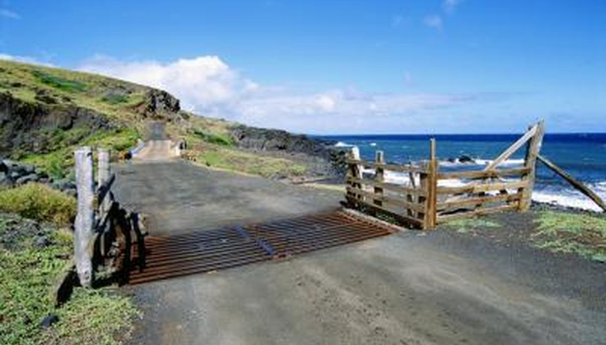 Cattle guards serve to keep livestock in and wildlife out, while allowing people easy access.