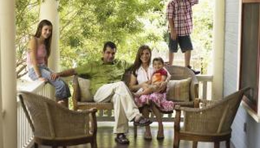 Tongue-and-groove flooring adds timeless aesthetic appeal to porches and verandas.