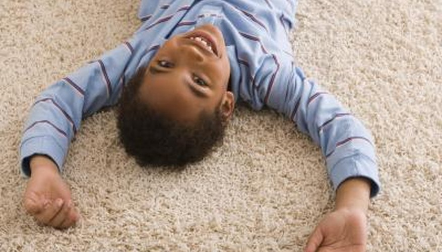 Frieze carpeting has a nubby appearance suitable for high-traffic areas.