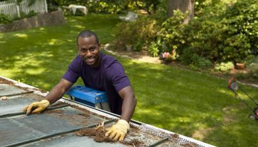 A gutter system should route water away from the patio's foundation.