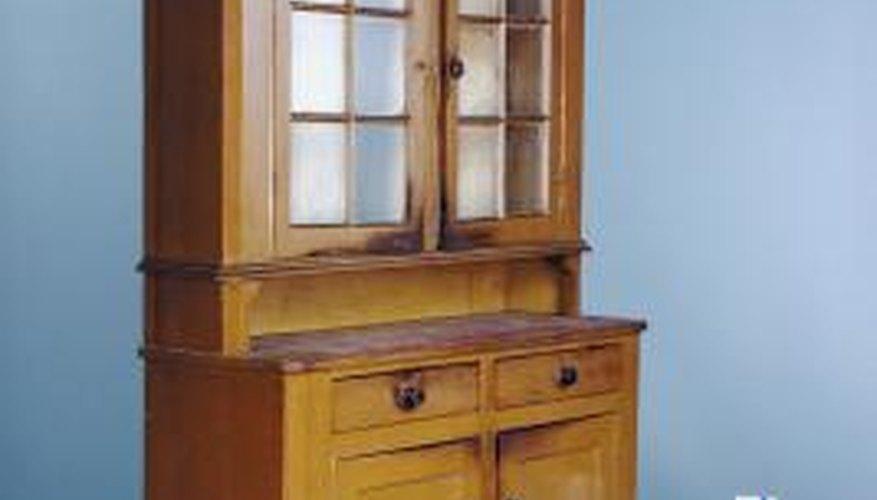Faux furniture antiquing