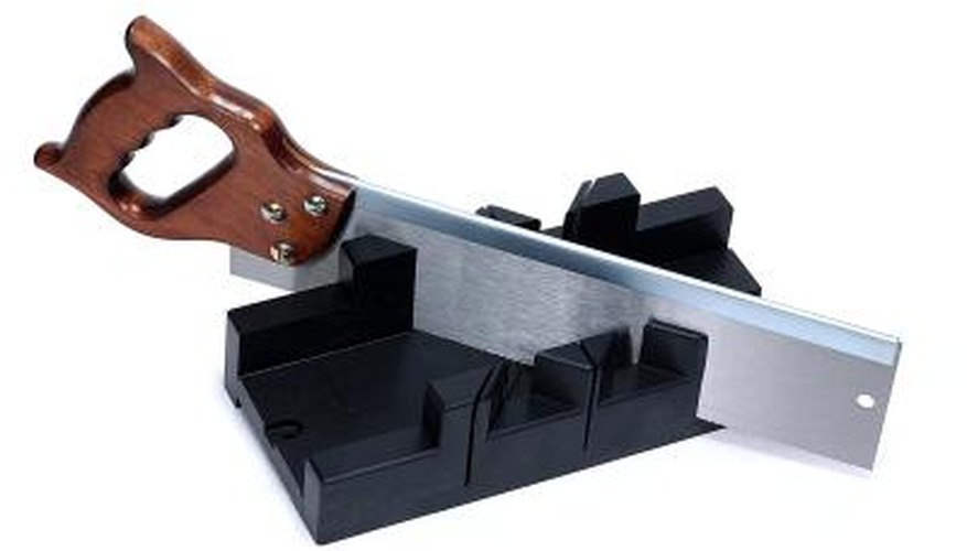 A large enough miter box and saw can be used to make accurate cuts.