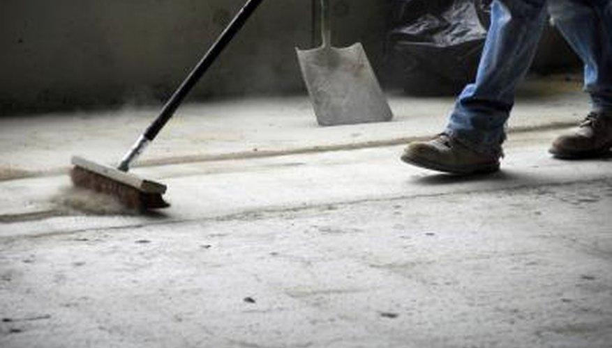 Construction site gets swept