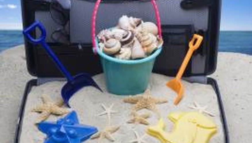 Bring the beach home with a sand box.