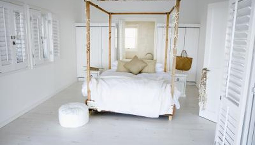 Make your own handsome canopy bed from wood.