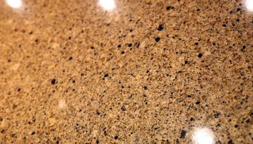 polished granite counters are attractive and durable