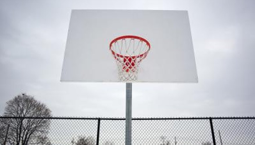 Traditional outdoor basketball courts are made with asphalt.