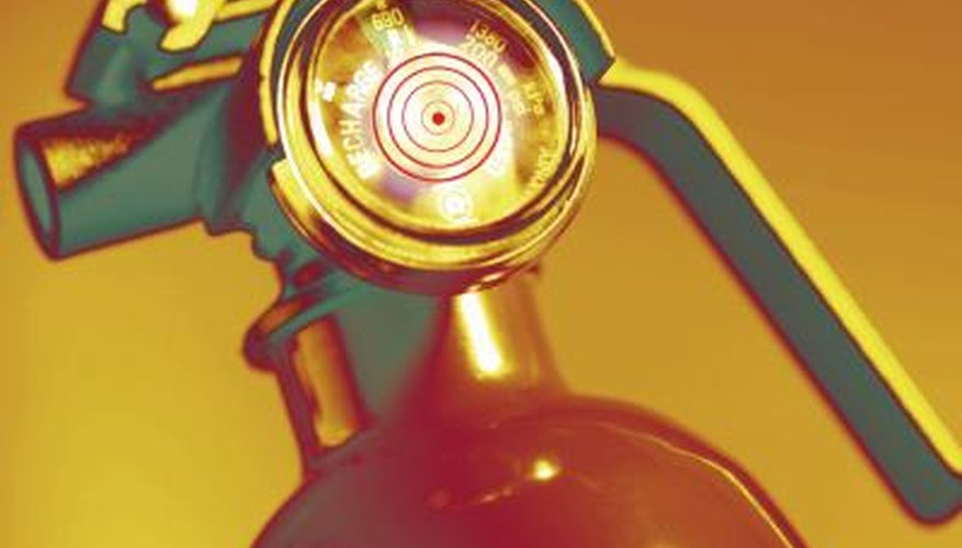 The horn of a carbon dioxide extinguisher can become pretty cold as you fire it.
