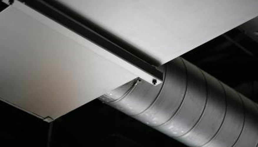 A dropped ceiling cannot be used in every case to hide ductwork.