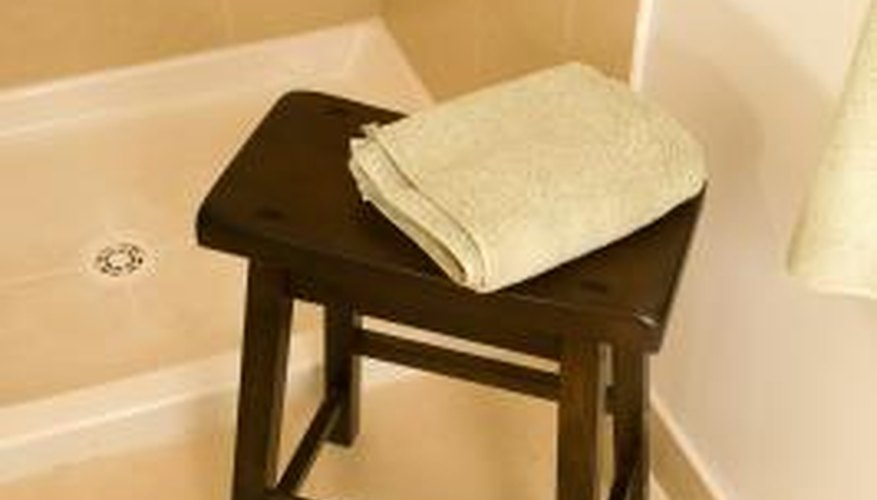 A portable shower seat or bench can be moved into and out of the shower easily.