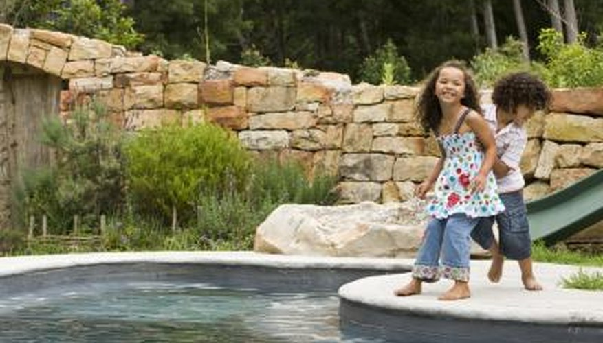 Hide your pool pump and filter by blending it into your landscape.
