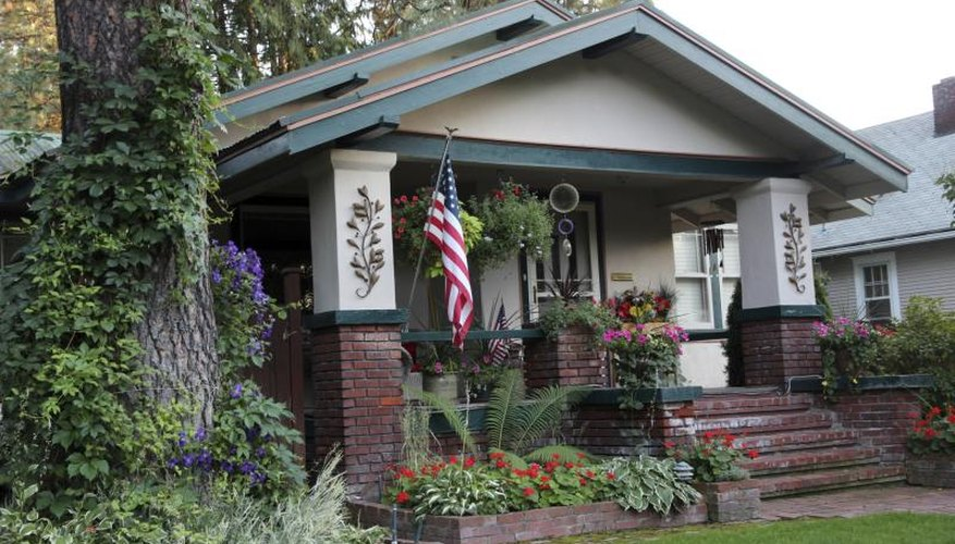 """The outside says """"Craftsman,"""" but the interior might be hybrid decor."""