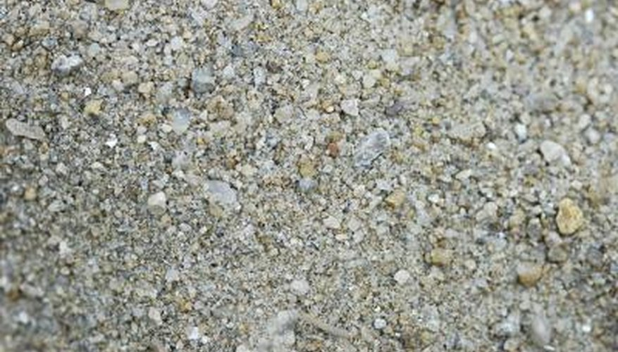 Quartz and granite are two types of stone often included in gravel.