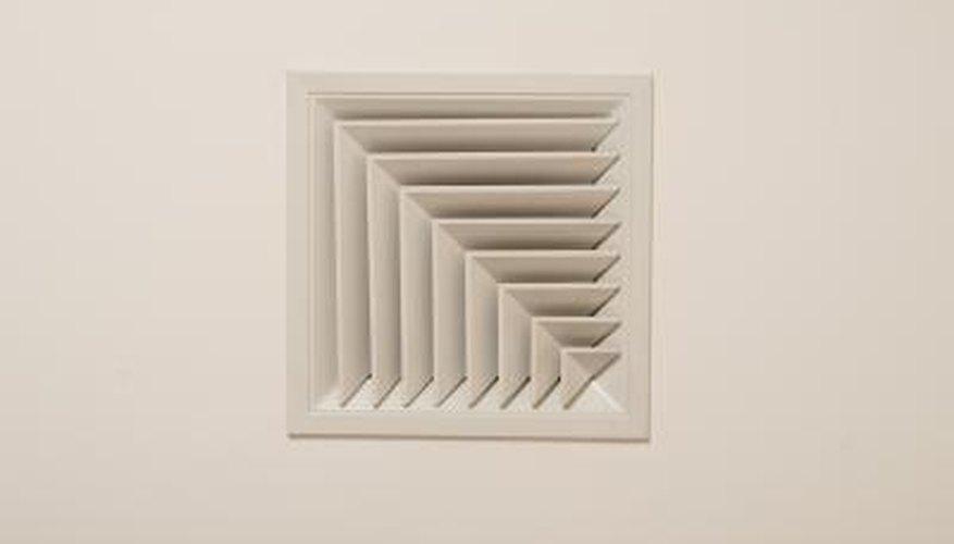 Ceiling vents facilitate airflow.