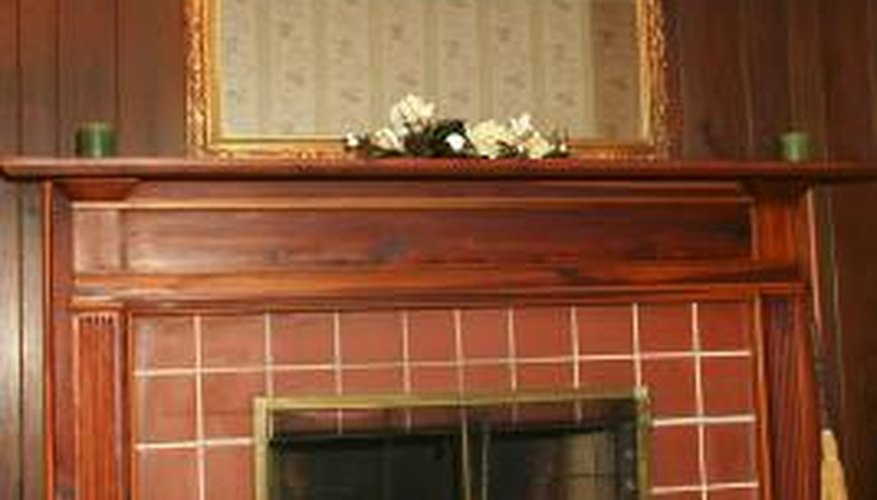 A riser bar remains on the fireplace door even when no fire exists.