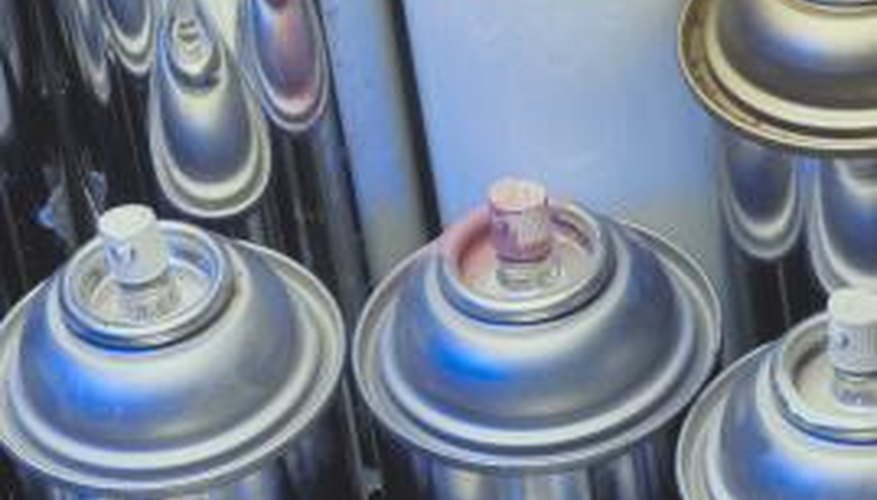 Spray paint provides even coverage on a metal baker's rack.
