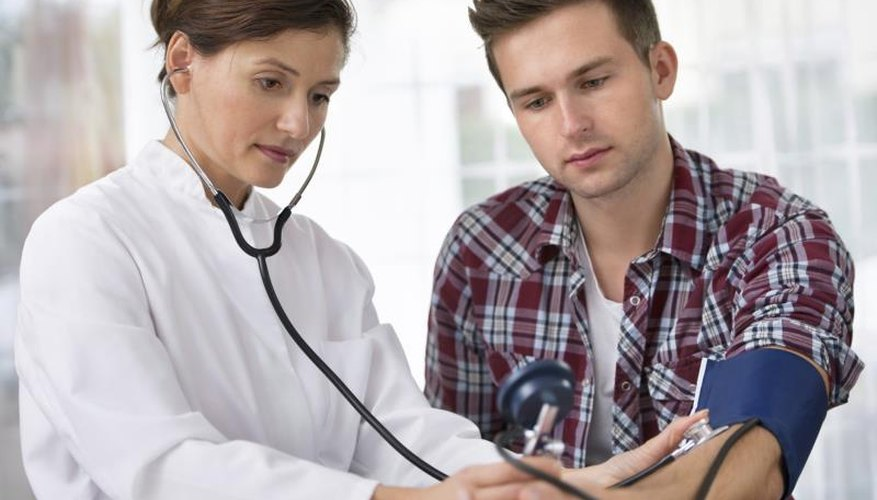 Young man at doctor