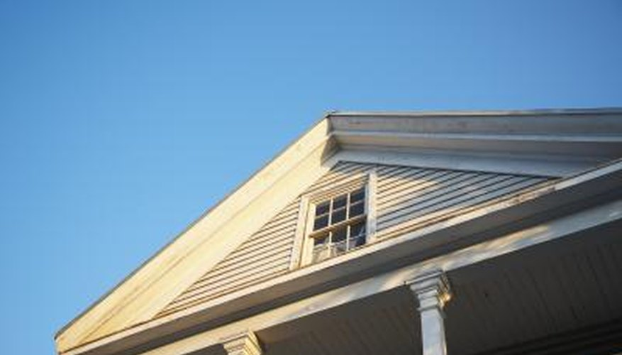 Conventional gable ends consist of two right triangles of equal size.
