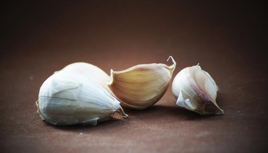 Both peel and soak garlic planting cloves to prevent pests and disease.