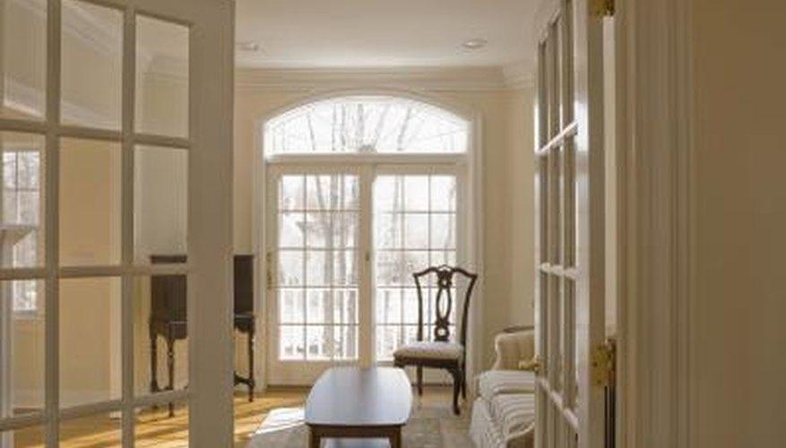 Pocket doors use less floor space than hinged doors.