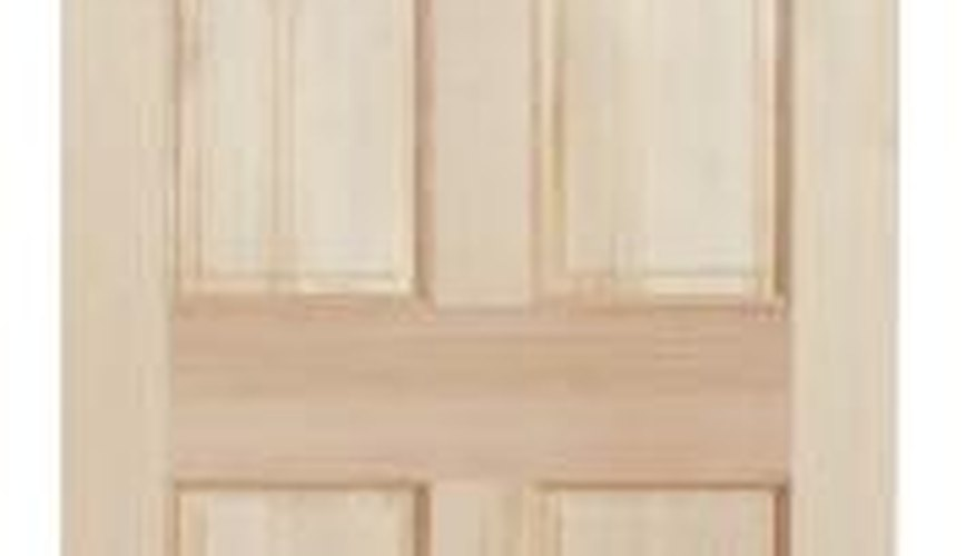 You can purchase plain wooden doors at home imrpovement stores.
