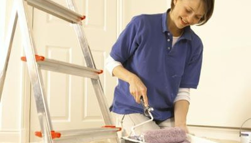 Work in a well-ventilated area whenever you begin a painting project.
