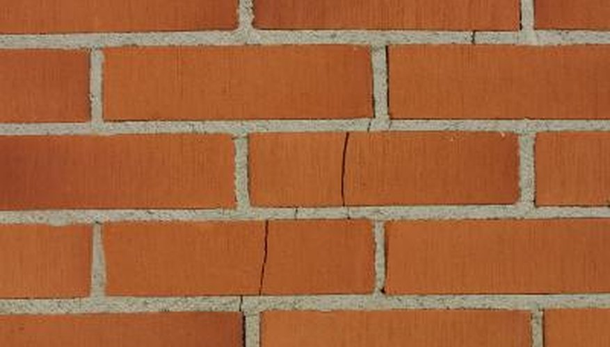 Cracks in brick can be repaired using a variety of methods.