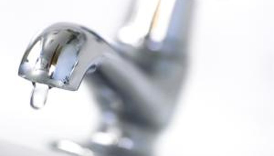 A whole house water filter provides clean water to all the faucets.